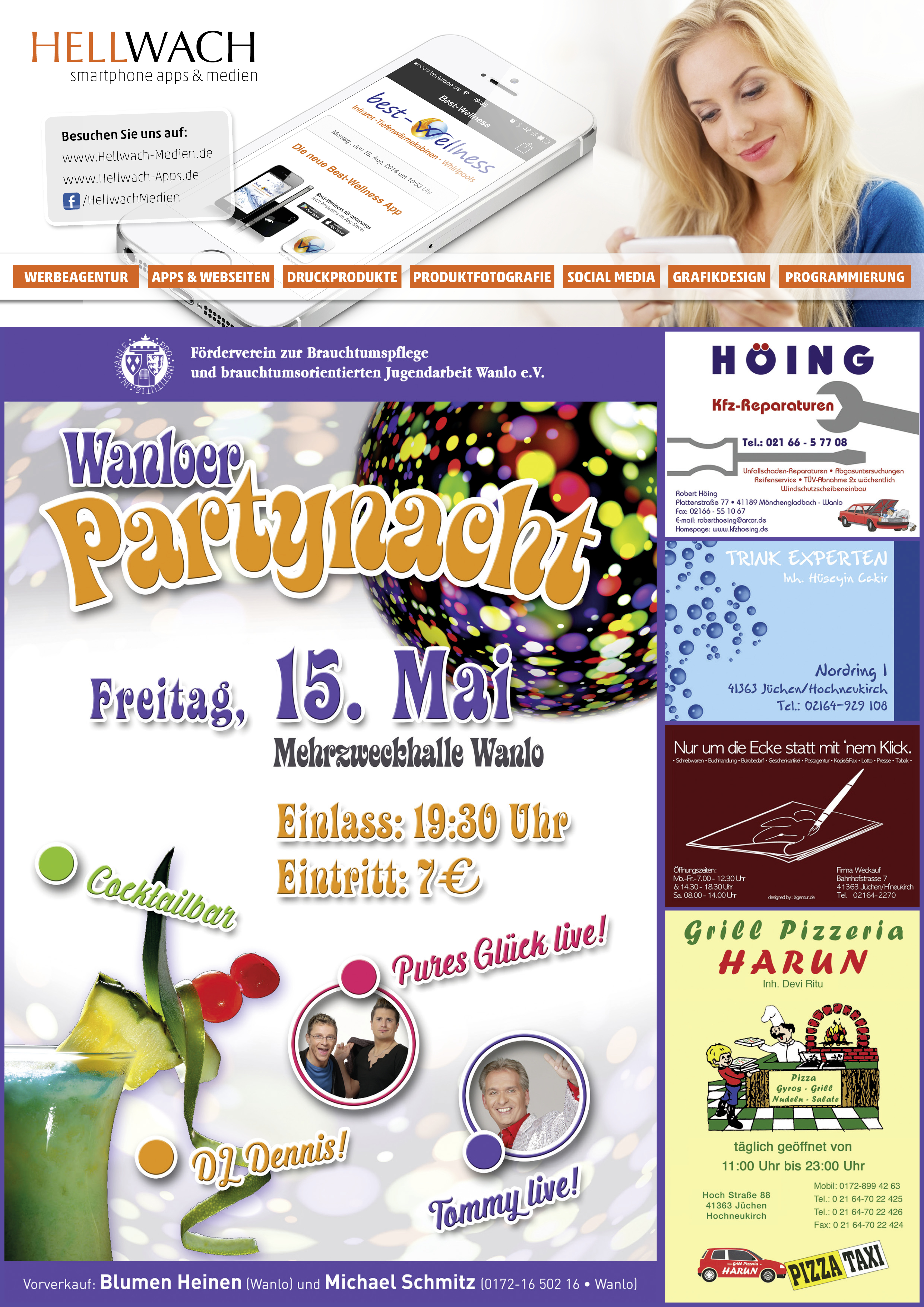Partynacht in Wanlo Poster